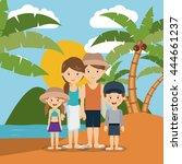 summer vacations in family... | Shutterstock .eps vector #444661237
