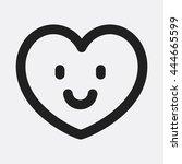 smile heart icon | Shutterstock .eps vector #444665599