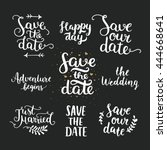 save the date collection with... | Shutterstock .eps vector #444668641