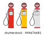 Retro Gas Pump Isolated On...