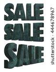 3d rendered grunge sale word on ... | Shutterstock . vector #444678967