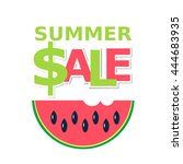 vector icon of summer sale | Shutterstock .eps vector #444683935