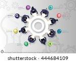 vector infographic templates... | Shutterstock .eps vector #444684109