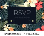 wedding invitaion or card... | Shutterstock .eps vector #444685267