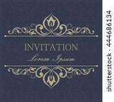 greeting card  invitation and... | Shutterstock .eps vector #444686134