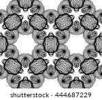 lace seamless pattern with... | Shutterstock .eps vector #444687229