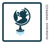 icon of globe. shadow... | Shutterstock .eps vector #444696121