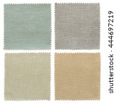 set of fabric swatch samples... | Shutterstock . vector #444697219