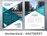 business brochure flyer design... | Shutterstock .eps vector #444700957