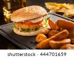 Tex Mex Style Chicken Burger A...