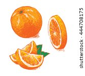 vector collection of fresh ripe ... | Shutterstock .eps vector #444708175