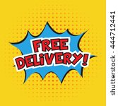 free delivery banner design.... | Shutterstock .eps vector #444712441
