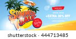 summer sale banner. vector... | Shutterstock .eps vector #444713485