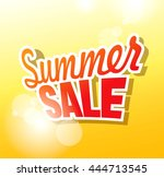 summer sale banner. vector... | Shutterstock .eps vector #444713545