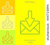 web line icon. incoming mail ... | Shutterstock .eps vector #444715894