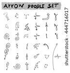 vector hand drawn arrows set... | Shutterstock .eps vector #444716017