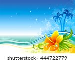 travel vector illustration with ... | Shutterstock .eps vector #444722779