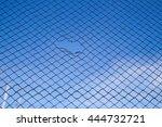 Hole In A Net Cloud Sky