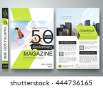 brochure design template vector.... | Shutterstock .eps vector #444736165