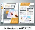 brochure design template vector.... | Shutterstock .eps vector #444736261