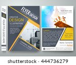 flyers design template vector.... | Shutterstock .eps vector #444736279