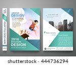 brochure design template vector.... | Shutterstock .eps vector #444736294