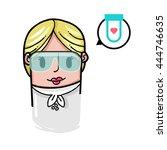 medical avatar vector... | Shutterstock .eps vector #444746635