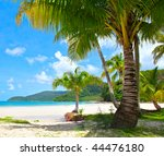 view of nice tropical empty... | Shutterstock . vector #44476180