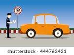 vector illustration of traffic... | Shutterstock .eps vector #444762421