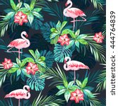 tropical summer seamless... | Shutterstock .eps vector #444764839
