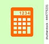calculator icon. flat design...