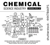 modern chemical science... | Shutterstock .eps vector #444786691