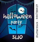 halloween party poster. | Shutterstock . vector #444788419