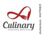 culinary emblem  logo for... | Shutterstock .eps vector #444790825