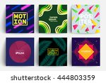 set of backgrounds with trendy... | Shutterstock .eps vector #444803359