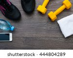 sport. outfit for exercises.... | Shutterstock . vector #444804289