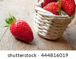 closeup of strawberries in a... | Shutterstock . vector #444816019