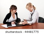 two charming business woman... | Shutterstock . vector #44481775