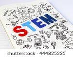 stem education. science... | Shutterstock . vector #444825235