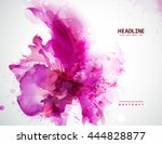 energetic pink abstract banner. ... | Shutterstock .eps vector #444828877