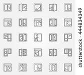 broken windows icon set. vector ...   Shutterstock .eps vector #444834349