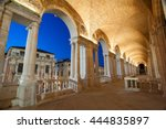 night view of the columns and... | Shutterstock . vector #444835897