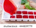 Frozen Cubes Of Berries