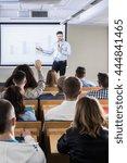 academic teacher explaining...   Shutterstock . vector #444841465