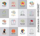 mind icons set   isolated on... | Shutterstock .eps vector #444842887