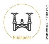 budapest  hungary  outline icon ... | Shutterstock .eps vector #444851974
