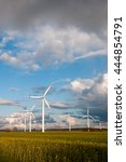 wind turbines on the field | Shutterstock . vector #444854791