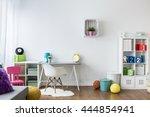 colorful room for children... | Shutterstock . vector #444854941
