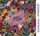 cartoon cute doodles hand drawn ... | Shutterstock .eps vector #444858205
