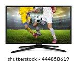 watching smart tv translation... | Shutterstock . vector #444858619